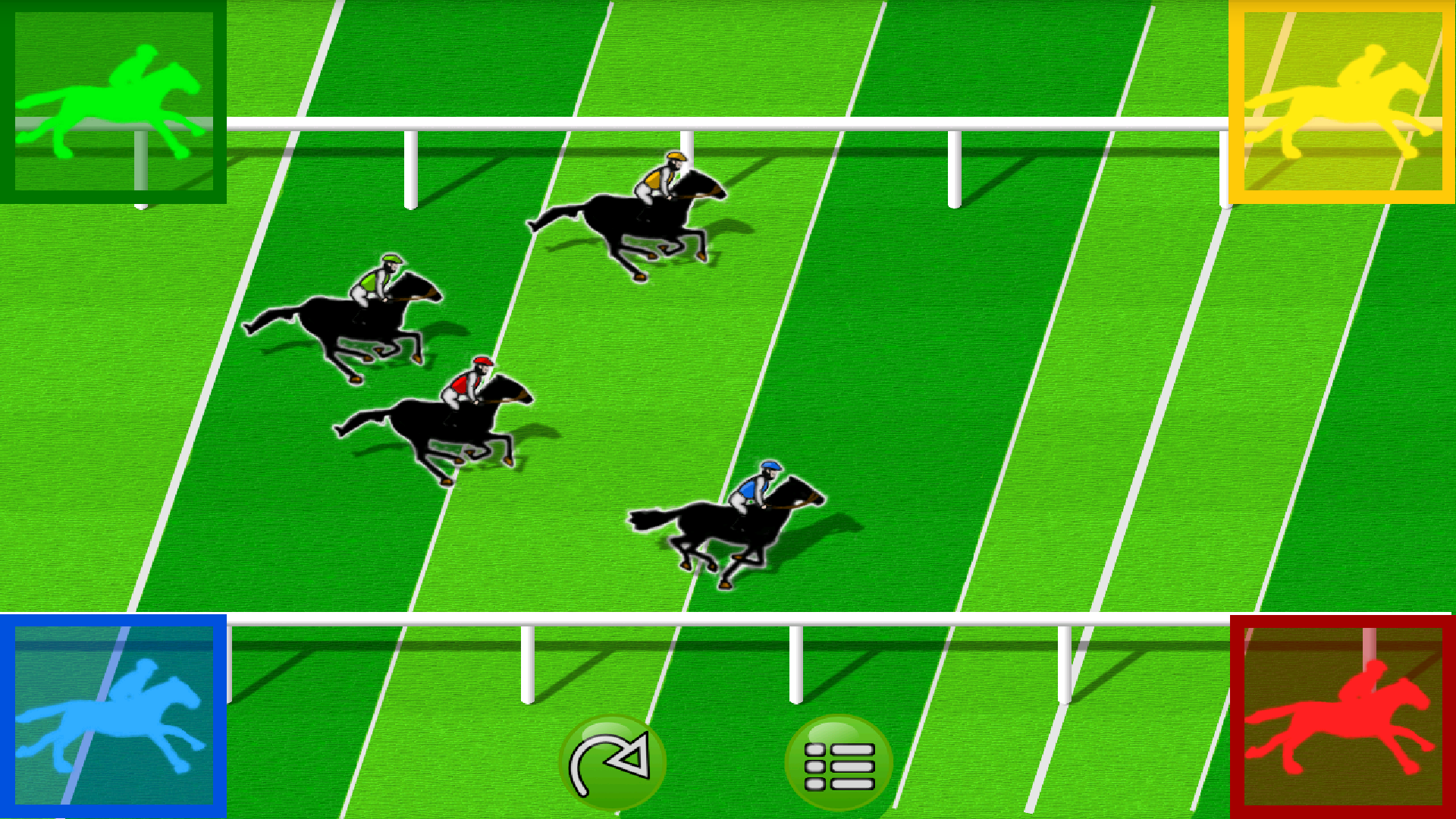 Horse race with 4 players